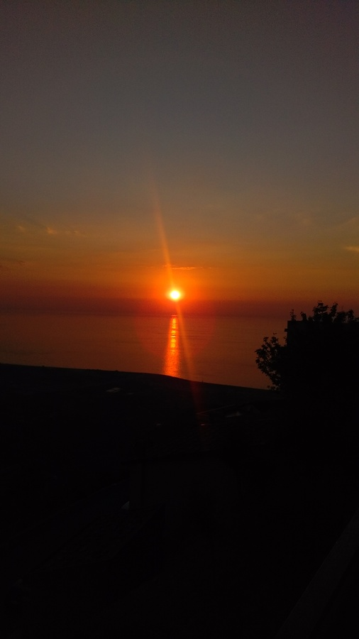 tramonto da San Marco D Alunzio